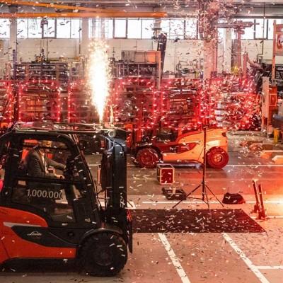 Милионният мотокар, произведен от Linde